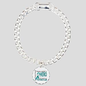Ovarian Cancer Heaven Ne Charm Bracelet, One Charm