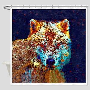 Pop Art Wolf Shower Curtain