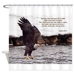 Wings As Eagle - Isaiah 40:31 Shower Curtain
