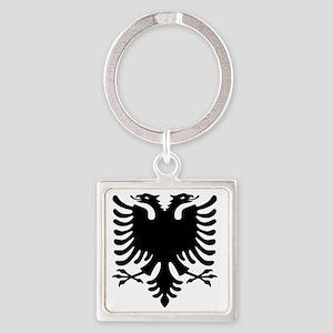 Albanian Eagle Square Keychain