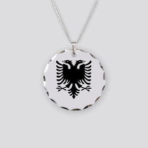 Albanian Eagle Necklace Circle Charm