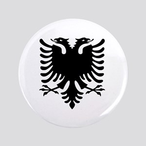 "Albanian Eagle 3.5"" Button"