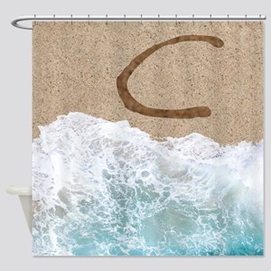 LETTERS IN SAND C Shower Curtain