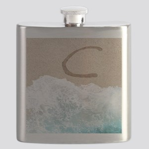 LETTERS IN SAND C Flask