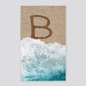 LETTERS IN SAND B 3'x5' Area Rug