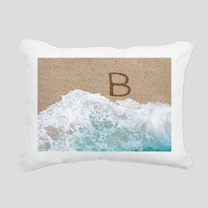 LETTERS IN SAND B Rectangular Canvas Pillow
