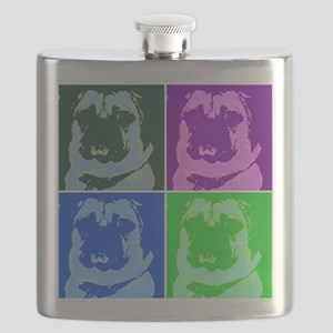 Pop Art Pug Flask