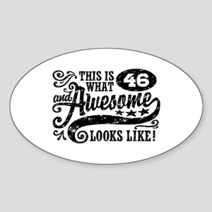46th Birthday Sticker (Oval)