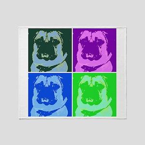 Pop Art Pug Throw Blanket