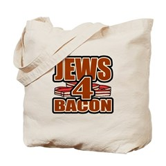 Jews For Bacon Tote Bag