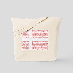 Danish Cities Flag Tote Bag