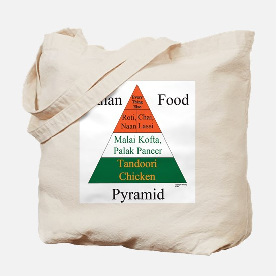 Indian Food Pyramid Tote Bag