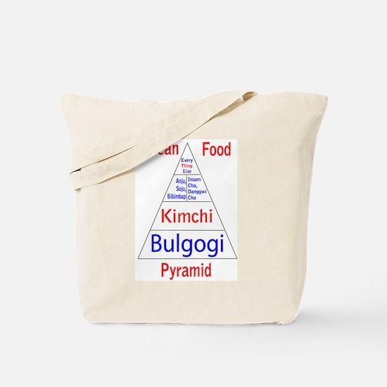 Korean Food Pyramid Tote Bag