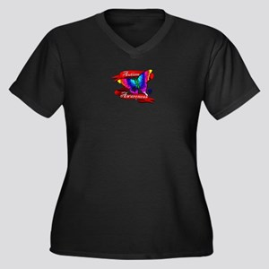 Autism Awareness Butterfly Design Plus Size T-Shir