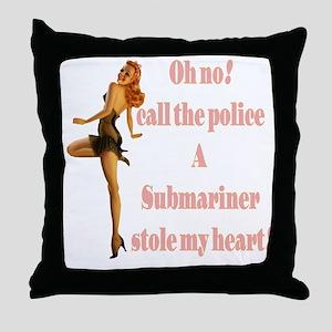 oh no submariner Throw Pillow