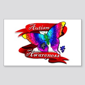 Autism Awareness Butterfly Design Sticker