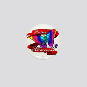 Autism Awareness Butterfly Design Mini Button