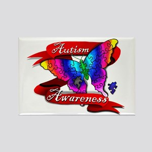 Autism Awareness Butterfly Design Magnets