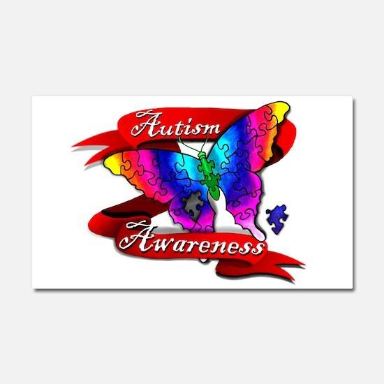 Autism Awareness Butterfly Design Car Magnet 20 x
