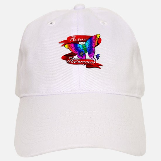 Autism Awareness Butterfly Design Baseball Baseball Baseball Cap