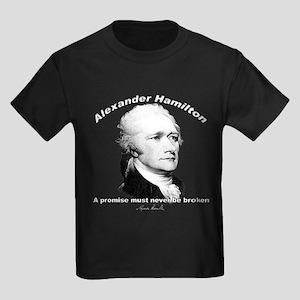 Alexander Hamilton 01 Kids Dark T-Shirt