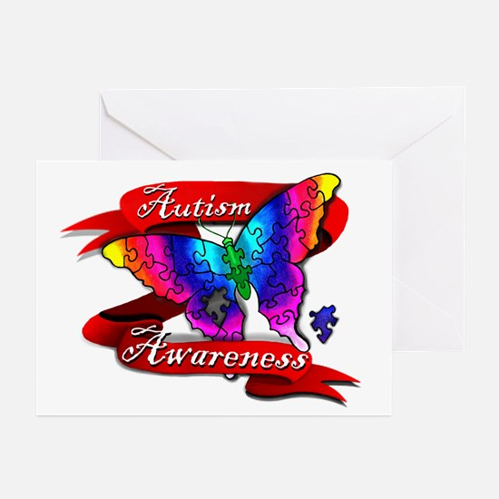 Autism Awareness Butterfly Design Greeting Cards