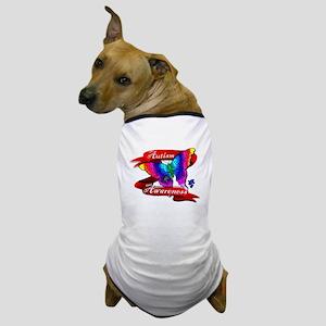 Autism Awareness Butterfly Design Dog T-Shirt