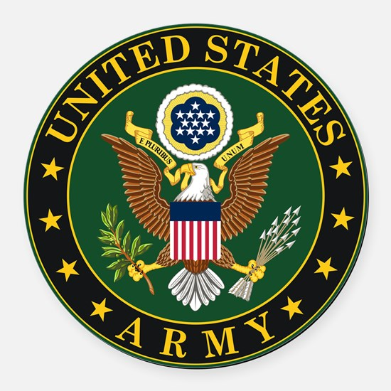 U.S. Army Symbol Round Car Magnet