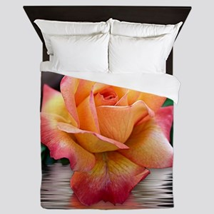 Yellow and Red Rose Queen Duvet
