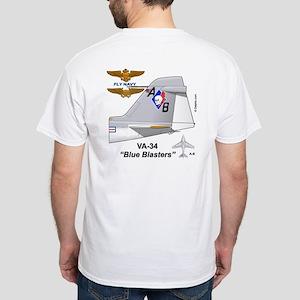 A-6 Intruder Va-34 Blue Blasters White T-Shirt