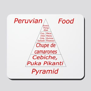 Peruvian Food Pyramid Mousepad