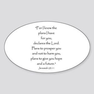 Jeremiah 29:11 Oval Sticker