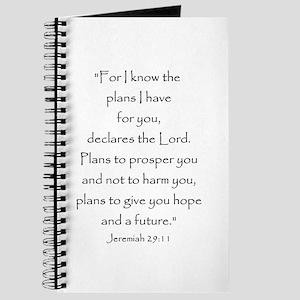 Jeremiah 29:11 Journal