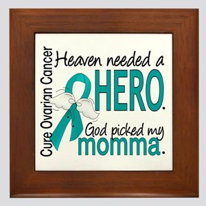 Ovarian Cancer Heaven Needed Hero 1.1 Framed Tile