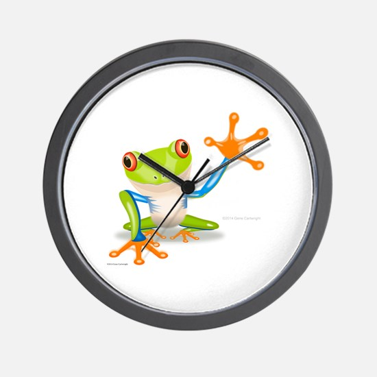 Fred Frog Wall Clock