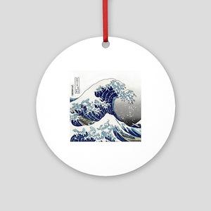 great wave of Kanagawa hokusai Ornament (Round)