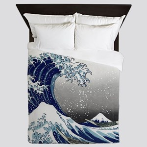 great wave of Kanagawa hokusai Queen Duvet