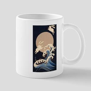FULL MOON, WAVE, RABBITS Mugs
