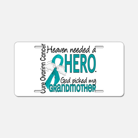 Ovarian Cancer Heaven Neede Aluminum License Plate