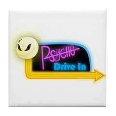 Psycho Drive-In Tile Coaster