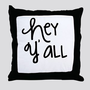 Hey Yall-01 Throw Pillow