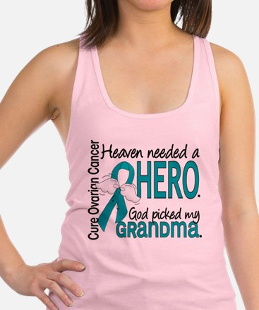 Ovarian Cancer Heaven Needed He Racerback Tank Top