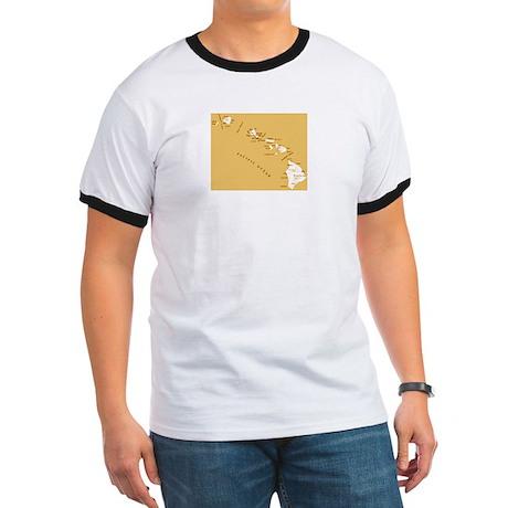 Hawaiian island topical map T-Shirt