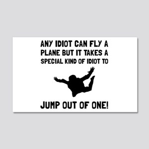 Idiot Skydiving Wall Decal