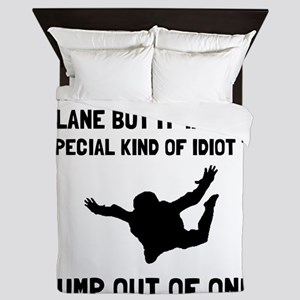 Idiot Skydiving Queen Duvet