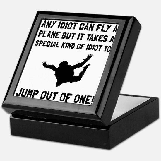 Idiot Skydiving Keepsake Box