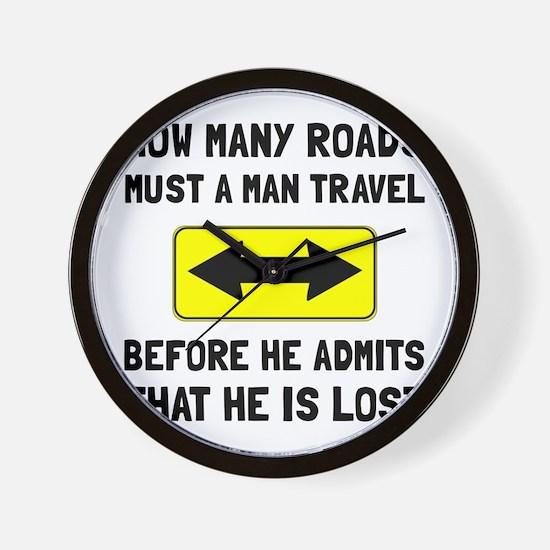 Man Is Lost Wall Clock