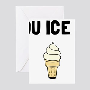 Money Buy Ice Cream Greeting Cards