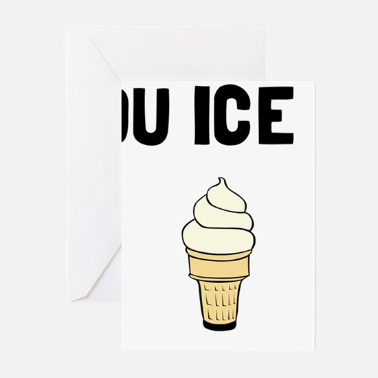 Money Buy Ice Cream Greeting Cards
