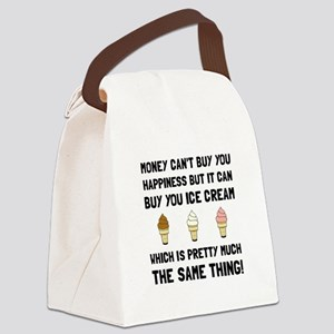 Money Buy Ice Cream Canvas Lunch Bag